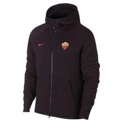 Sweat à capuche entièrement zippé A.S. Roma Tech Fleece pour Homme