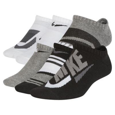 Nike Everyday Lightweight Kids' Graphic No-Show Socks (6 Pairs)