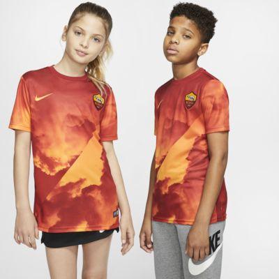 Camiseta de fútbol de manga corta para niños del A.S. Roma