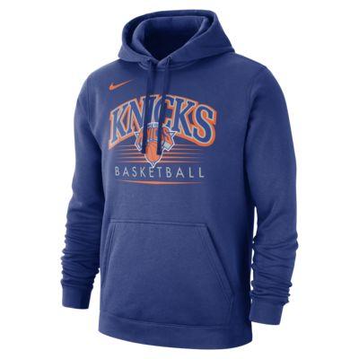 New York Knicks Nike NBA-s kapucnis férfipulóver