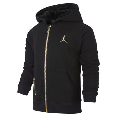 Mikina Jordan s kapucí a dlouhým zipem