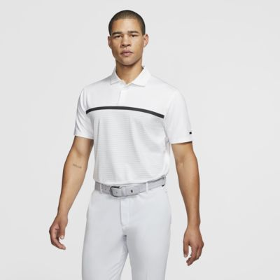 Nike Dri-FIT Tiger Woods Vapor gestreiftes Golf-Poloshirt für Herren