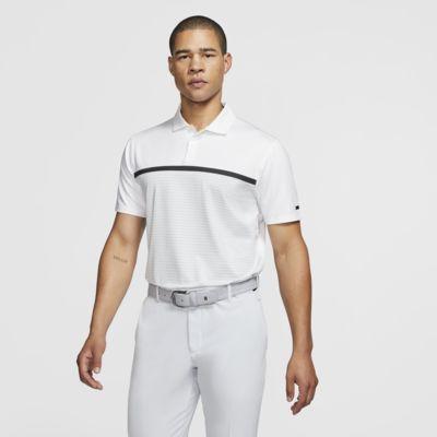 Nike Dri-FIT Tiger Woods Vapor stripet golfskjorte til herre