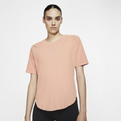 Top de running de manga corta para mujer Nike City Sleek