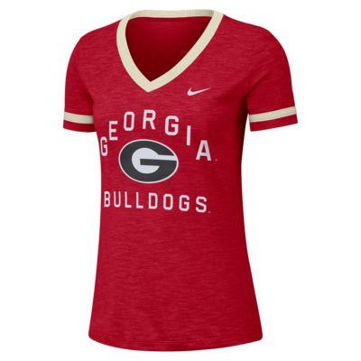 Nike College Dri-FIT Fan (Georgia) Women's Short-Sleeve V-Neck Top