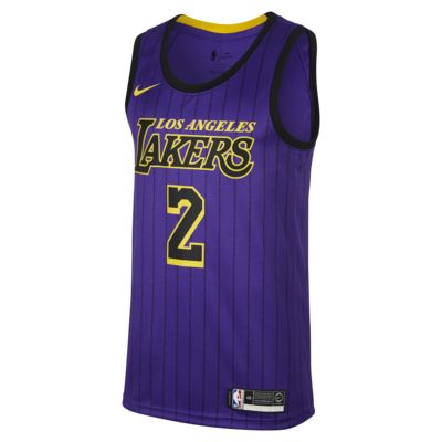 Lonzo Ball City Edition Swingman (Los Angeles Lakers) Men's Nike NBA Connected Jersey