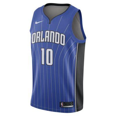 Camiseta conectada Nike NBA para hombre Evan Fournier Icon Edition Swingman (Orlando Magic)