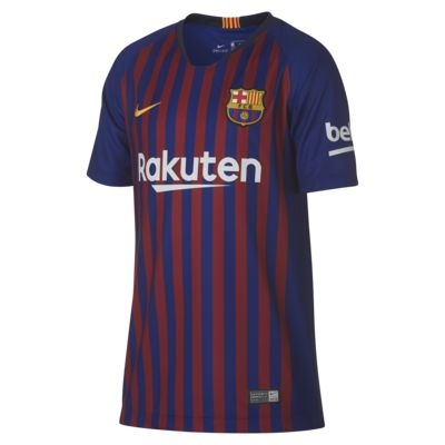 2018/19 FC Barcelona Stadium Home Older Kids' Football Shirt