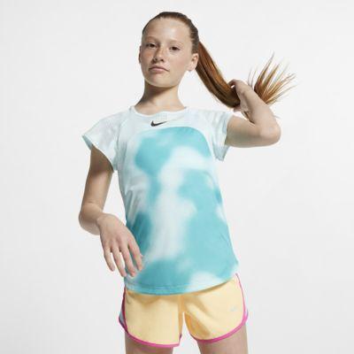 Prenda para la parte superior de running de manga corta para niña talla grande Nike Instacool