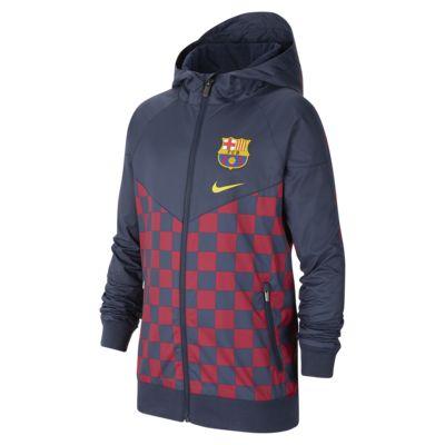 Chamarra para niños talla grande FC Barcelona Windrunner