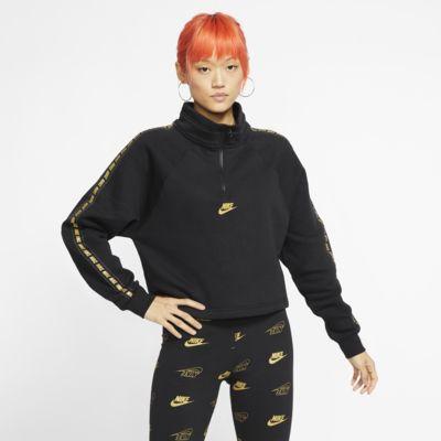 Prenda para la parte superior con cuello en embudo de medio cierre para mujer Nike Sportswear