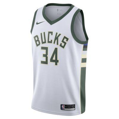 Giannis Antetokounmpo Association Edition Swingman (Milwaukee Bucks) Nike NBA Connected Trikot für Herren
