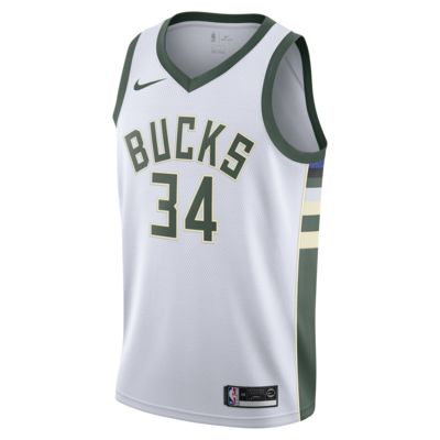 Maillot connecté Nike NBA Giannis Antetokounmpo Association Edition Swingman (Milwaukee Bucks) pour Homme