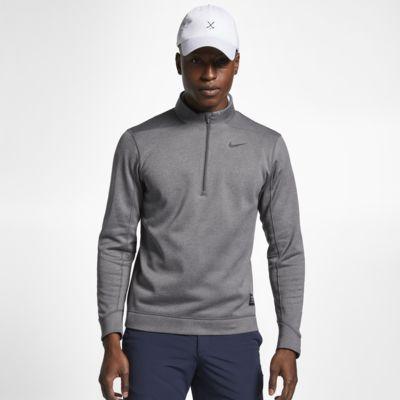 Męska koszulka do golfa z zamkiem 1/2 Nike Therma Repel