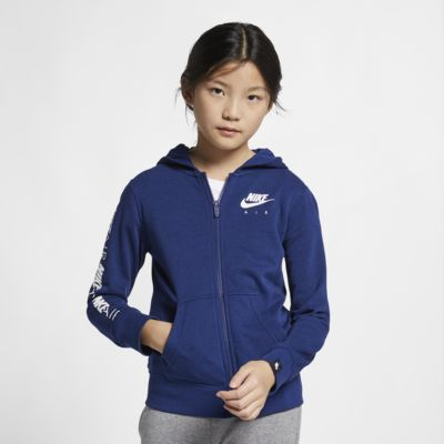 Nike Air hosszú cipzáras, kapucnis pulóver nagyobb gyerekeknek (lányok)