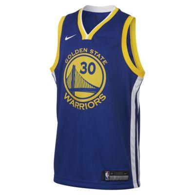 Stephen Curry Golden State Warriors Nike Icon Edition Swingman Older Kids' NBA Jersey