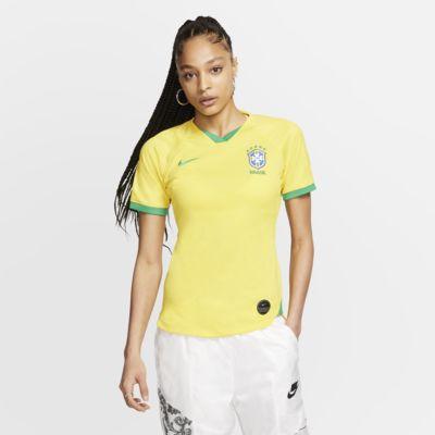 Camiseta de fútbol para mujer Brasil 2019 Stadium Home
