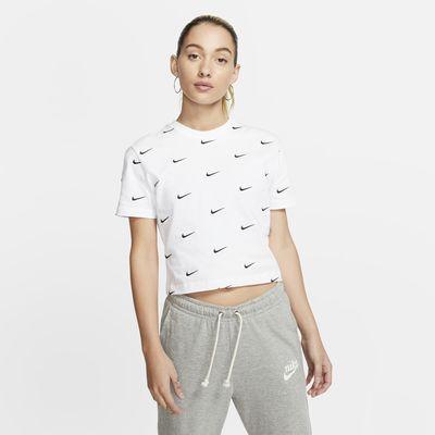 Nike 女款 Swoosh 標誌 T 恤