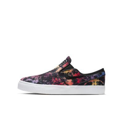Skateboardsko Nike SB Stefan Janoski Canvas Slip Tie Dye för ungdom