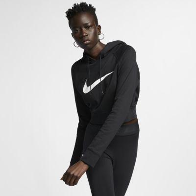 เสื้อมีฮู้ดผ้าเฟรนช์เทรีเอวลอยผู้หญิง Nike Sportswear Swoosh