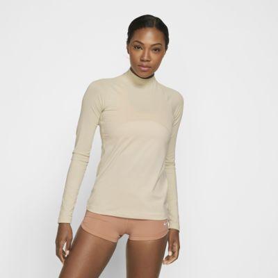 Γυναικεία μακρυμάνικη μπλούζα με γυαλιστερή όψη Nike Pro Warm