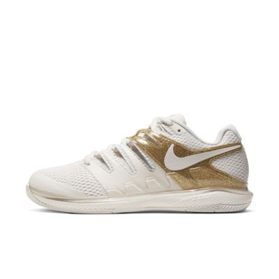 Купить Женские теннисные кроссовки для игры на кортах с твердым покрытием NikeCourt Air Zoom Vapor X, Phantom/Золотистый металлик/Золотистый металлик/Phantom, 23724611, 12712492