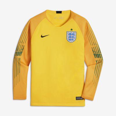 2018 England Stadium Goalkeeper Langarm-Fußballtrikot für ältere Kinder