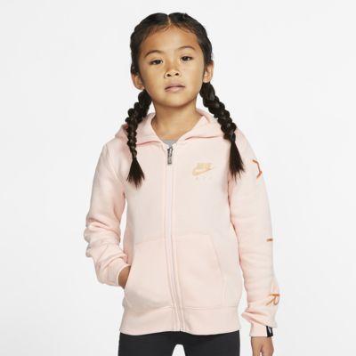 Μπλούζα φλις με κουκούλα και φερμουάρ Nike Sportswear για μικρά παιδιά