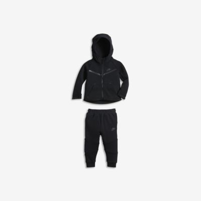Σετ μπλούζα με κουκούλα και παντελόνι Nike Tech Fleece για βρέφη (12-24M)