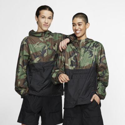 Skejtanorak med kamouflagemönster Nike SB