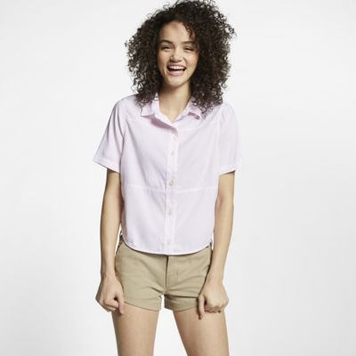 Женская рубашка из тканого материала с коротким рукавом Hurley Wilson Shipwrecks