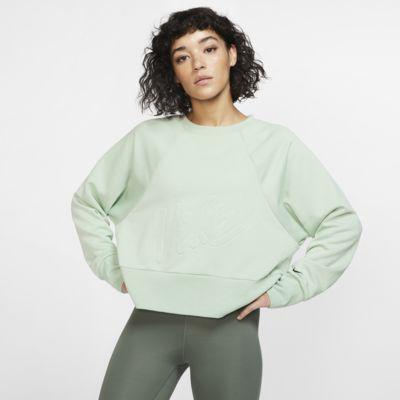 Träningströja i fleece med rund hals Nike Dri-FIT Get Fit för kvinnor