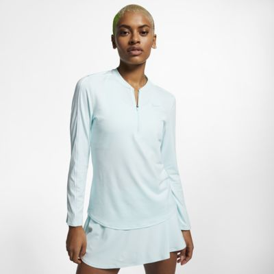 NikeCourt Dri-FIT Camiseta de tenis con media cremallera - Mujer