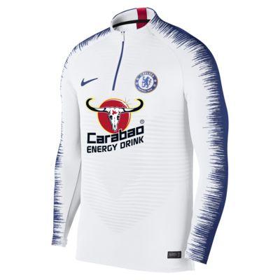 Męska koszulka piłkarska z długim rękawem Chelsea FC VaporKnit Strike Drill
