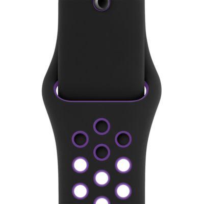 44 毫米黑/超级葡萄紫 Nike Sport Band (S/M & M/L)