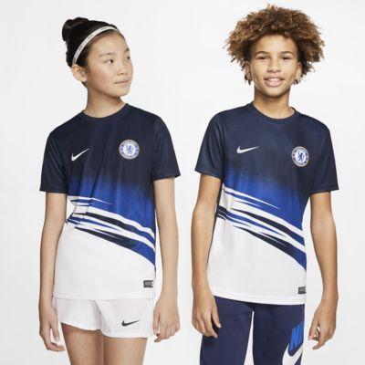 Kortærmet Chelsea FC-fodboldtrøje til børn