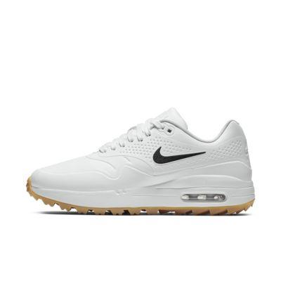 Купить Женские кроссовки для гольфа Nike Air Max 1 G, Белый/Светло-коричневая резина/Белый, 22468623, 12460370