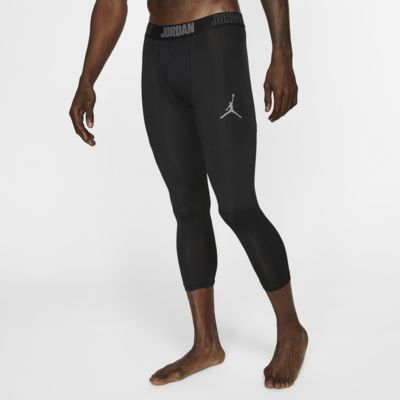 Купить Мужские тайтсы для тренинга длиной 3/4 Jordan Dri-FIT 23 Alpha, Черный/Темно-серый/Темно-серый, 20192617, 11935084