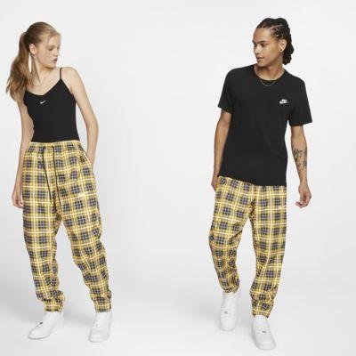 Tkaninové kostkované atletické kalhoty Nike
