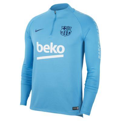 Haut de football à manches longues FC Barcelona Dri-FIT Squad Drill pour Homme