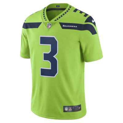 Camiseta de fútbol para hombre NFL Seattle Seahawks dri-FIT (Russell Wilson) Limited Color Rush