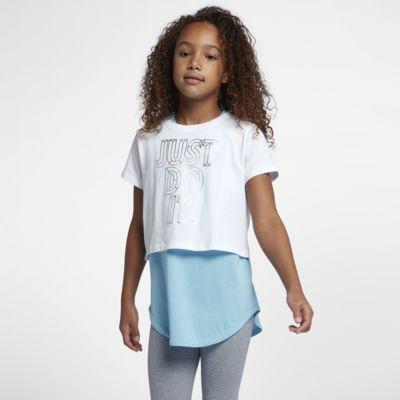 Playera recortada JDI para niña talla grande Nike Sportswear