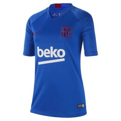 เสื้อฟุตบอลแขนสั้นเด็กโต FC Barcelona Strike
