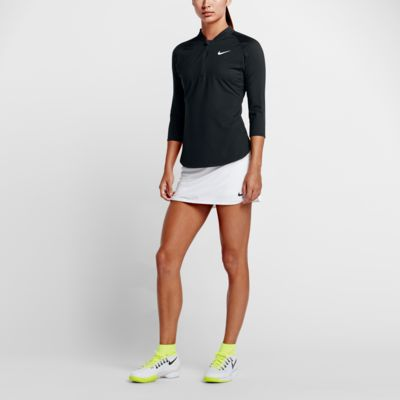 Купить Женская теннисная футболка с молнией на половину длины и рукавом 3/4 NikeCourt Dry Pure