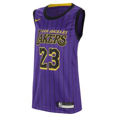 LeBron James City Edition Swingman (Los Angeles Lakers) Big Kids' Nike NBA Jersey