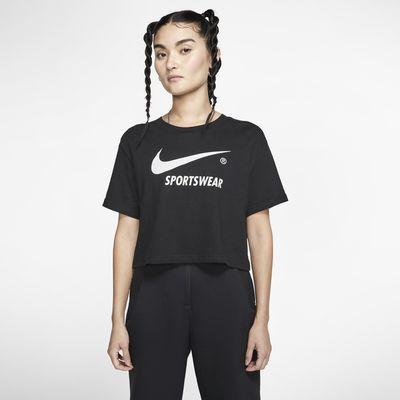 Nike Sportswear crop overdel med korte ærmer til kvinder