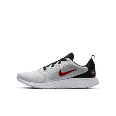 Беговые кроссовки для школьников Nike Legend React SD, Чистая платина/Черный/Платиновый металлик/Оранжевый командный, 22500232, 12464378  - купить со скидкой