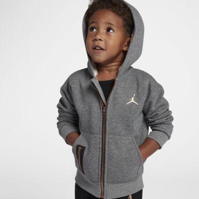 Bluza z kapturem i zamkiem na całej długości dla maluchów Jordan