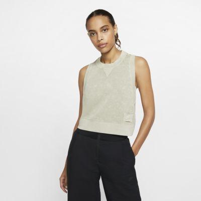 Γυναικείο φανελάκι από ύφασμα French Terry σε κοντό μήκος Nike Sportswear