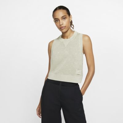 Nike Sportswear avkortet frottésinglet til dame